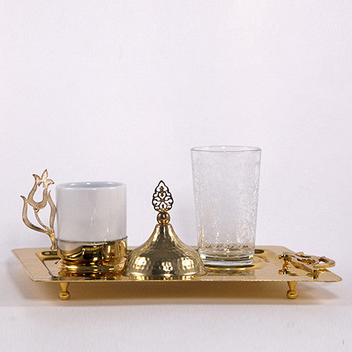 Tulip Model Coffee Cup Set Gold