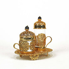 Filigree Oval Coffee Cup Set