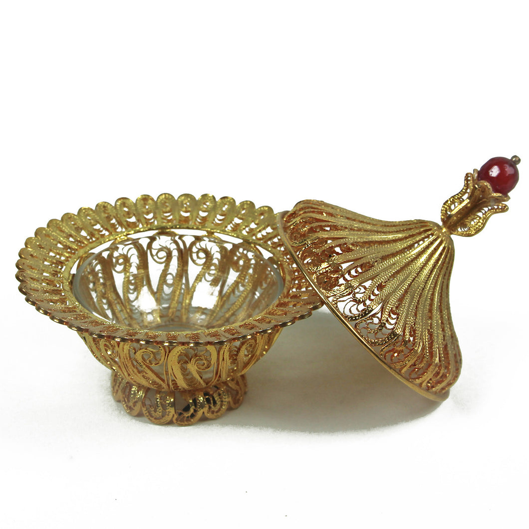 Filigree Sugar Bowl Gold