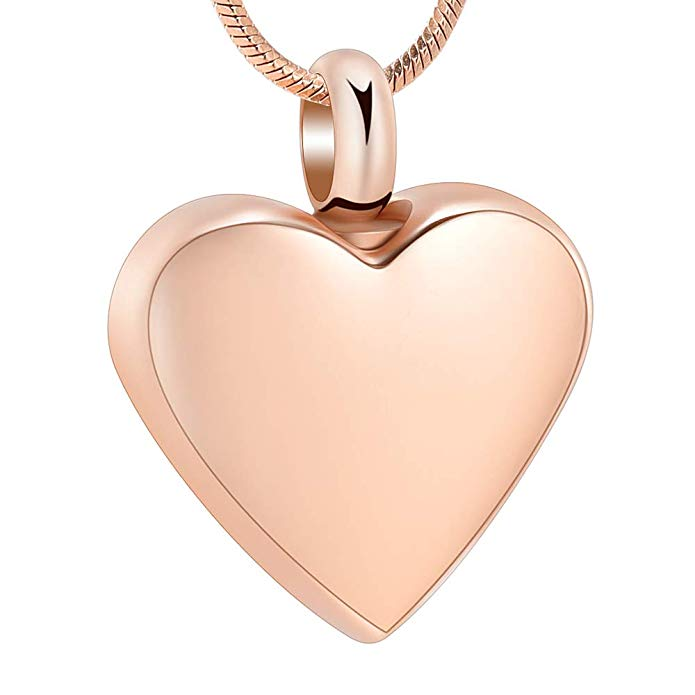 Rose Gold Flat Heart