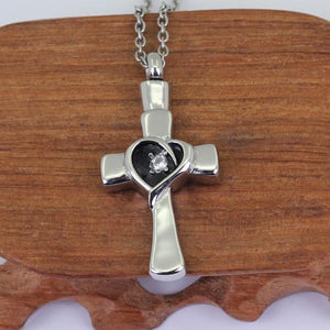Cross with Zircon Heart