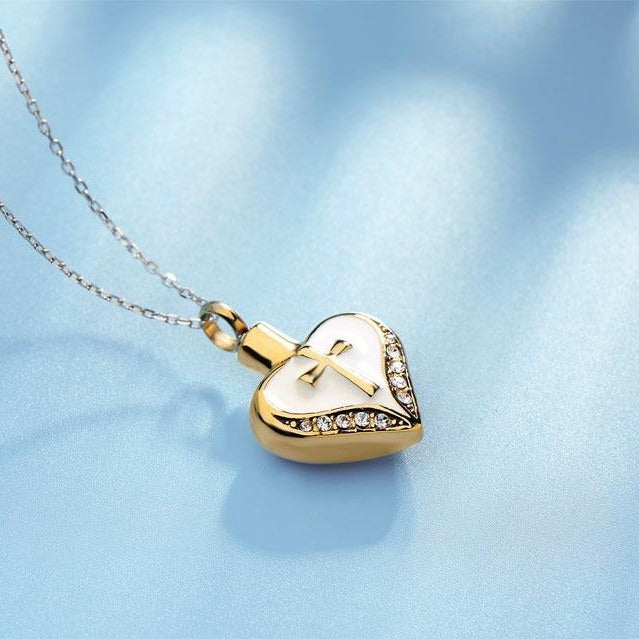 Golden Heart With Zircons