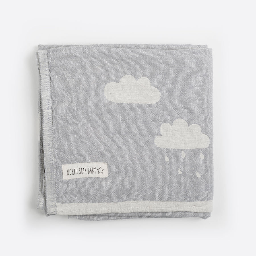 Grey Clouds Blanket