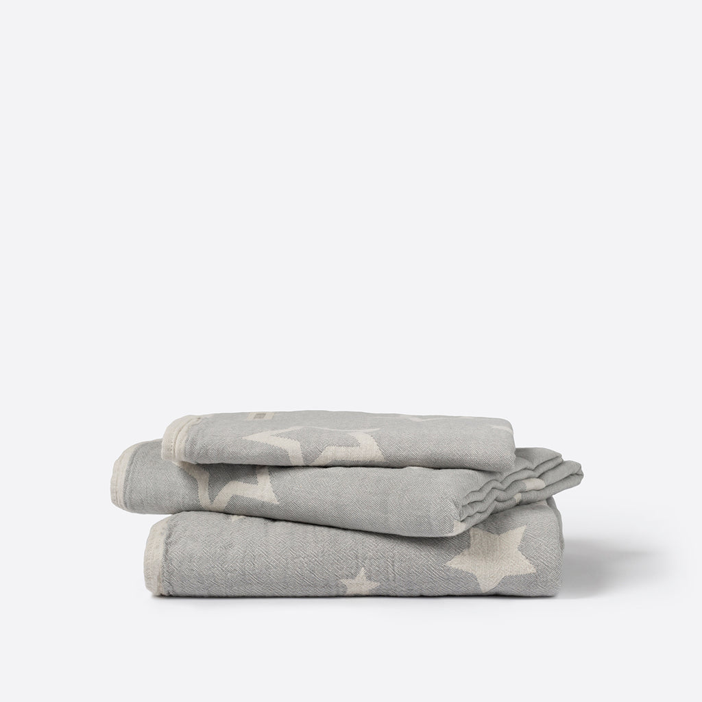 North Star Baby Grey Stars Blanket Classic Cotton