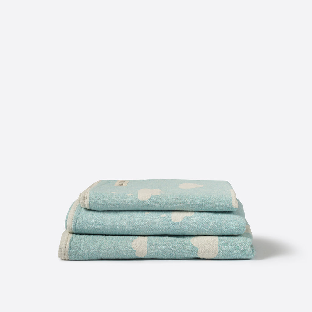 Mint Clouds Blanket