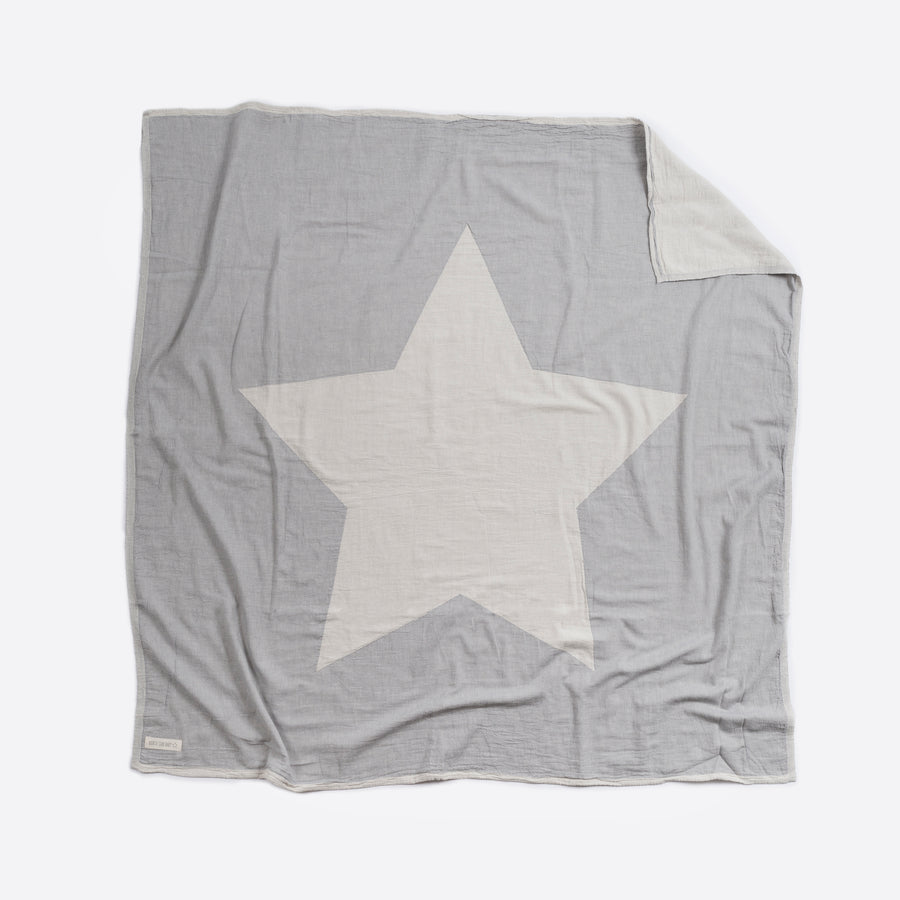 Grey North Star Blanket