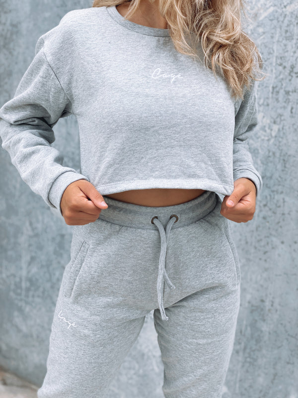 Signature Crop Crew - Grey