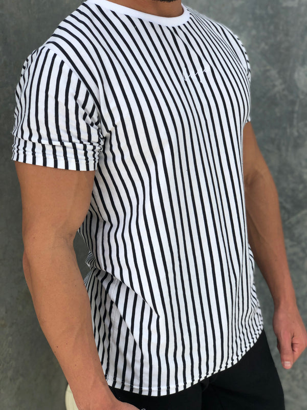 Signature Stripe T-Shirt - Black/White