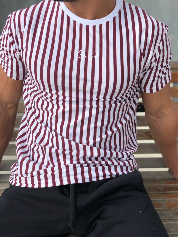 Signature Stripe T-Shirt - Red/White
