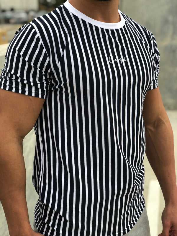 Signature Stripe T-Shirt - Blue/White