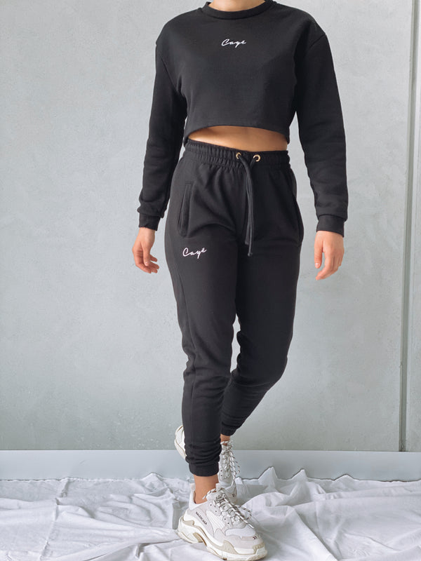 Signature Crop Crew - Black