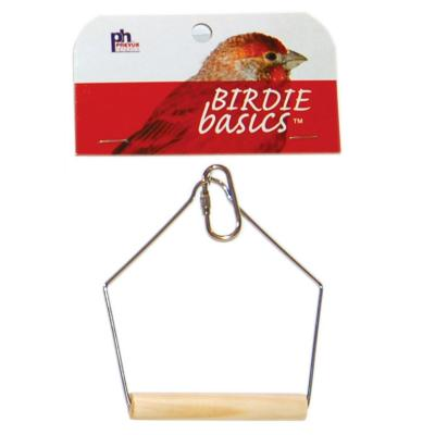 "PREVUE HENDRYX PET PRODUCTS BIRD CAGE SWING 3.5"" BIRCH KEET"
