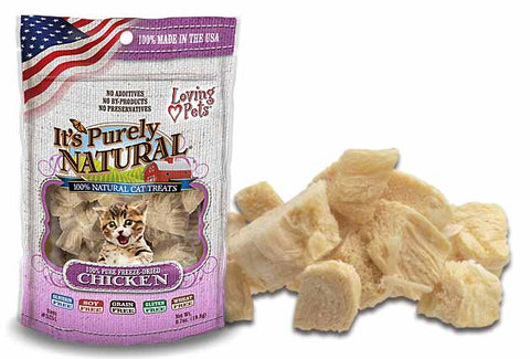 Loving Pets' It's Purely Natural® FREEZE DRIED CHICKEN Cat Treats