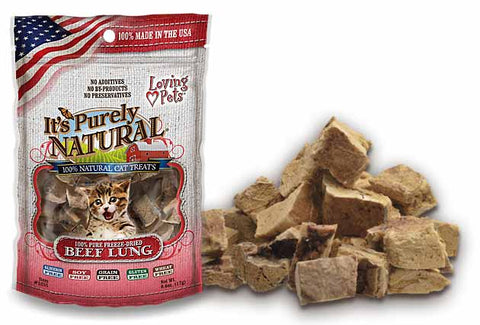 Loving Pets' It's Purely Natural® FREEZE DRIED BEEF LUNG Cat Treats