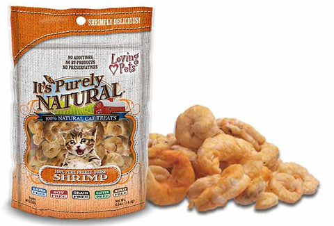 Loving Pets' It's Purely Natural® Freeze Dried Shrimp Cat Treats