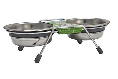 Loving Pets Silent Diner™ Elevated Double Diners
