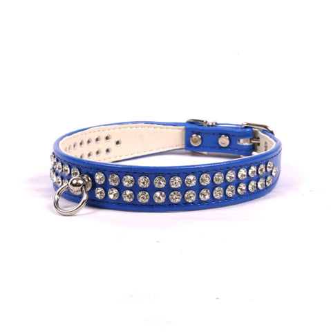2-ROW CRYSTAL LUXURY DOG COLLAR