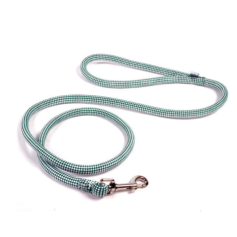 CHECKERBOARD BRAIDED ROPE DOG LEASH by Yellow Dog