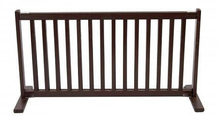 Free Standing Pet Gate - Large-Mahogany