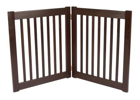 Two Panel EZ Pet Gate - Small-Mahogany