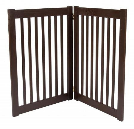 Two Panel EZ Pet Gate - Large-Mahogany
