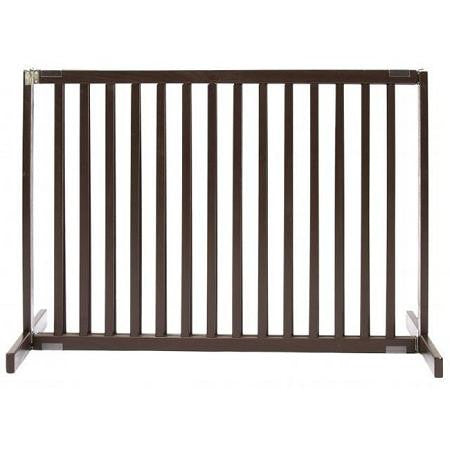 Free Standing Pet Gate - Small Tall-Mahogany
