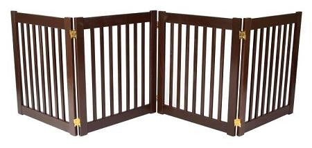 Four Panel EZ Pet Gate - Small-Black