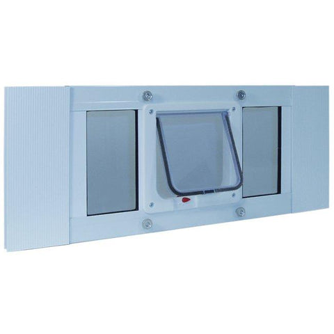 Aluminum Sash Window Cat Flap - 23 to 28 Inches