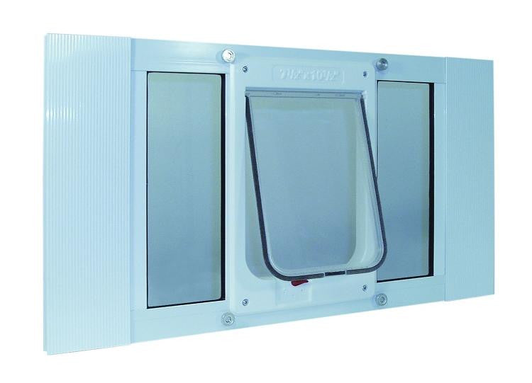 Aluminum Sash Window Cat Flap - 27-32 Inches