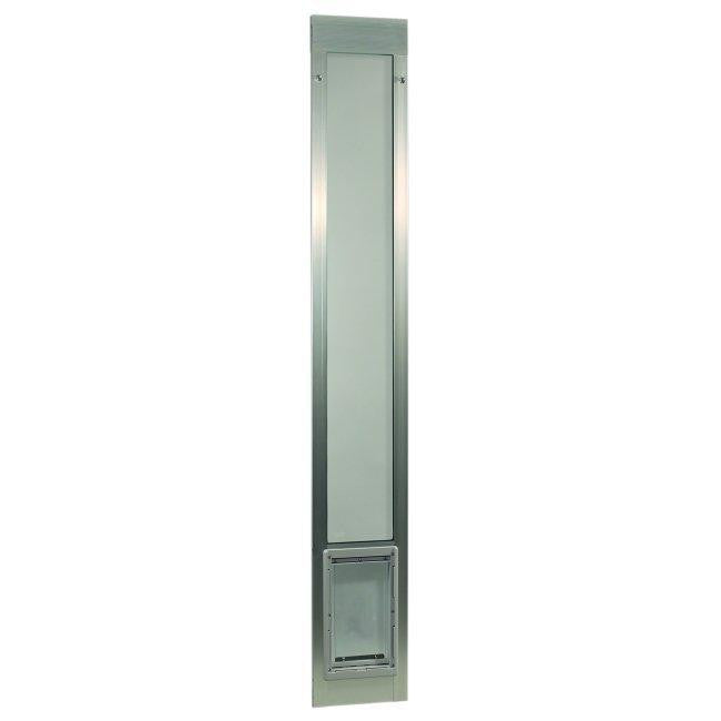"Fast Fit Pet Patio Door - Super Large-Silver Frame 75"" to 77 3-4"""