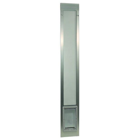 "Fast Fit Pet Patio Door - Medium-Silver Frame 77 5-8"" to 80 3-8"""