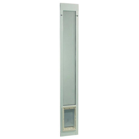 "Fast Fit Pet Patio Door - Medium-White Frame 77 5-8"" to 80 3-8"""