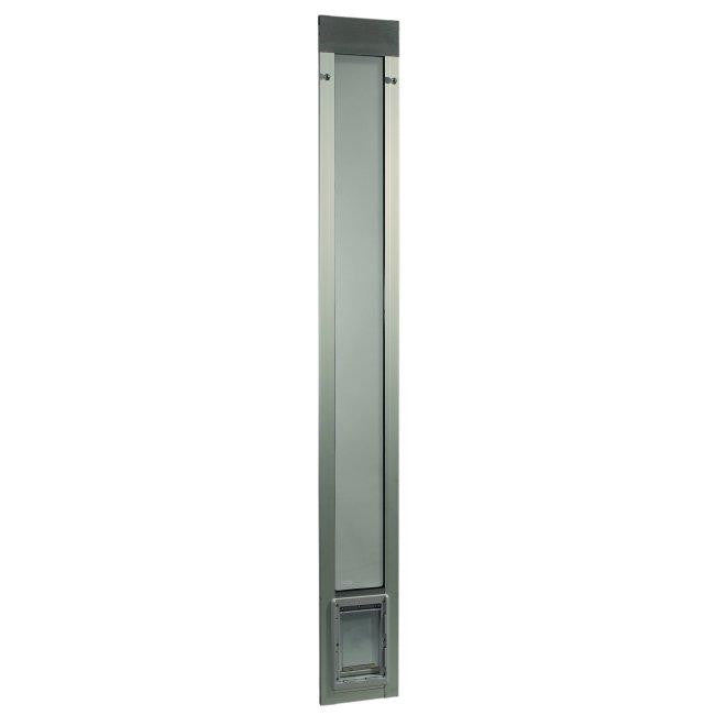 "Fast Fit Pet Patio Door - Small-Silver Frame 77 5-8"" to 80 3-8"""