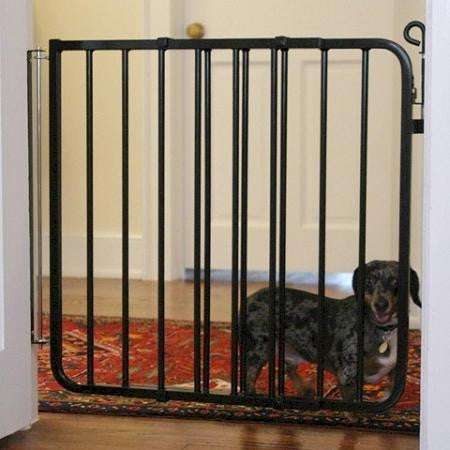 Auto Lock Dog Gate - White