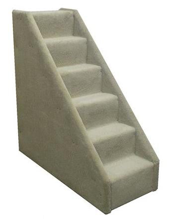 Mini 6 Step Dog Steps - Grey