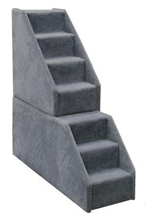 Bear Stairs Mini 7 Step Dog Steps - Blue