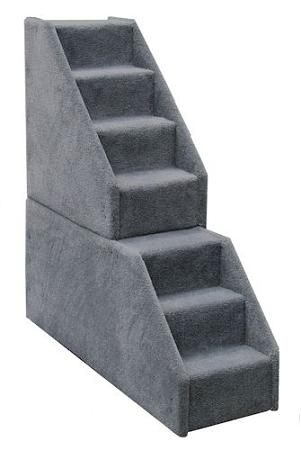 Bear Stairs Mini 7 Step Dog Steps - Grey