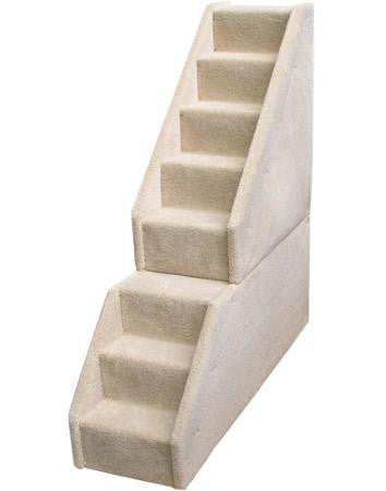Bear Stairs Mini 8 Step Dog Steps - Beige