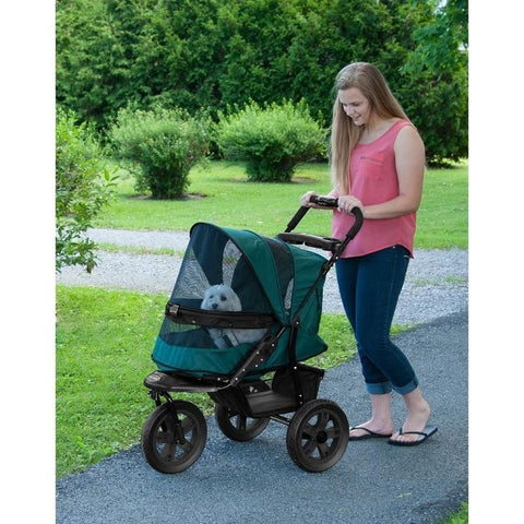 AT3 No-Zip Dog Stroller - Forest Green
