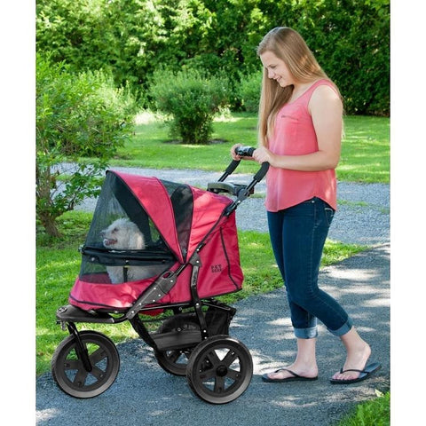 AT3 No-Zip Dog Stroller - Rugged Red