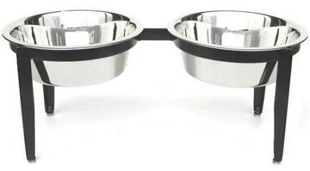 Visions Double Elevated Dog Bowl - Small