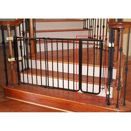Wrought Iron Decor Dog Gate Extension - Black