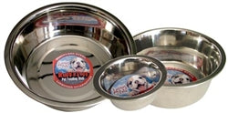 LOVING PETS Ruff N' Tuff® Traditional No-tip Stainless Steel ONE QUART MIRRORED BOWL