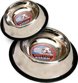 LOVING PETS Ruff N' Tuff® Traditional No-tip Stainless Steel 64 OZ. MIRRORED BOWL