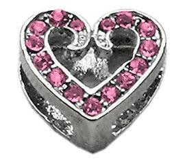 Slider Scripty Heart Charm 3/8 ""