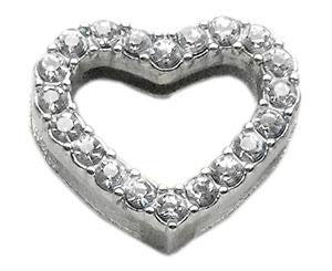 "Slider Heart Charm  3/4"" (18mm)"