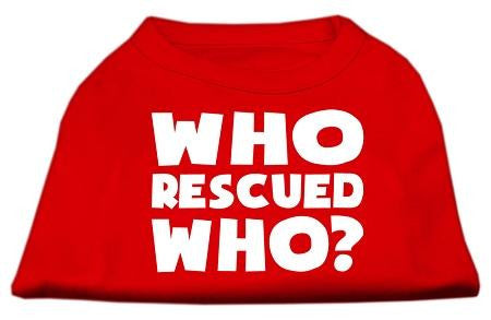 Who Rescued Who Screen Print Shirt