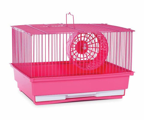 Single Story Hamster Cage -  Pink