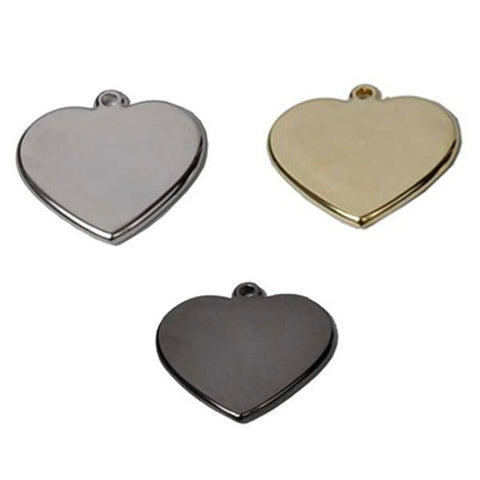 HEART SHAPE ENGRAVED PET ID TAG