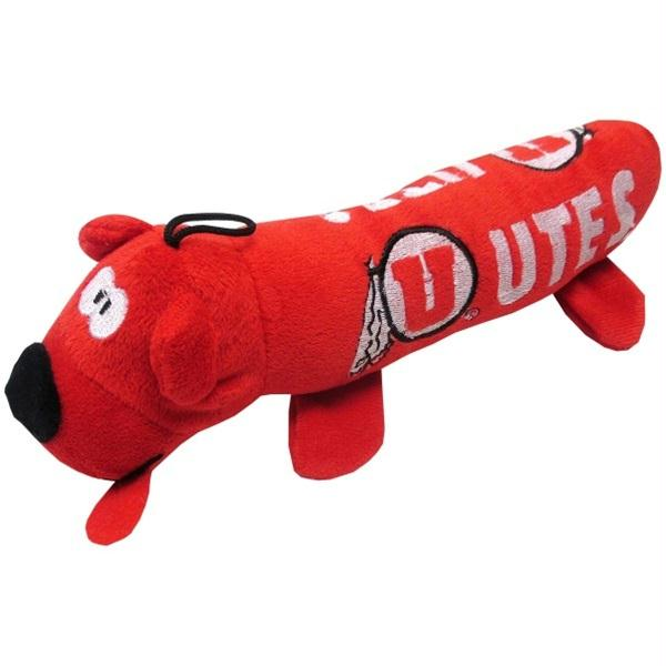Utah Utes Plush Tube Pet Toy